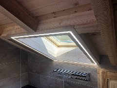 Agencement- eclairage led encastre velux dimmable - les gets